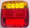Truck/Trailer turn light/brake light/reflector set