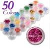 Hot sale! 50 colors nail art deco shiner powder nail art ornament