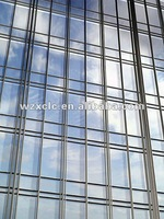glazed aluminum alloy curtain wall for high rise building