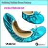 rollabe soft ballet shoes with green color