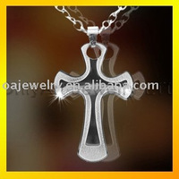 2012 NEW quality stainless steel cross jewelry for Christians,paypal on line