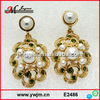E2486 Fashion rhinestone jewelry earring pearl