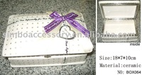 Ceramic gift jewellery box