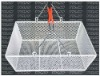 SBW05-B powder coating 2 handles metal mesh shopping basket