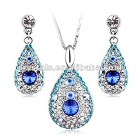 new Bohemian styles jewelry set made with swarovski elements,necklace and earring