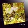 golden fine carving decorative glass design