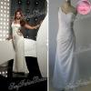 One-shoulder A-line natural waist Chiffon girls graduation dresses one shoulder prom dress long dress chiffon new style
