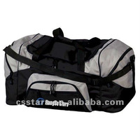 Large black/gray sport duffel bag, 600D ployester