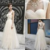 2013 New Style Spaghetti Straps Sweetheart Beaded Pleats A-Line Chiffon Evening Dresses
