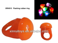 Flashing plastic rubber ring toys