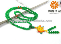 108 green agate prayer beads mala jewelry