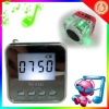New portable Angel Mini USB LCD MP3 Player Speaker with FM ration