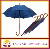 straight auto open wooden handle umbrella