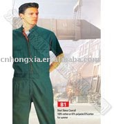 China work uniform,short sleeve coverall
