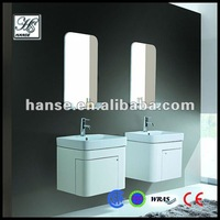 wall mounted modern solid wood white bathroom furniture HS-C2007