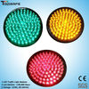 waterproof 12 inches red yellow green color led traffic light module with polycarbonate light lens
