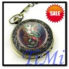 Mens Antique Roman Chain Handwinding Pocket watch NEW