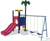 children swing and slide playground equipment