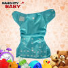 Breathable Blue Color Baby Cloth Diaper Cover