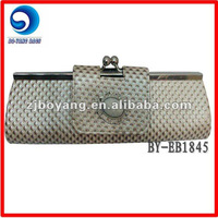 lady's pu evening bag with acrylic /clutch evening bag