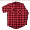 Men 100% Cotton Flannel Check Shirt