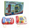 plastic mobile phone musical toys for kid shantou chenghai toys