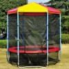 Trampolines with safety enclosure(ladder,wether cover,winf staks)