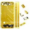 Diamond Frame Metal Middle Plate Housing Cover with Small Parts for iPhone 4, Black