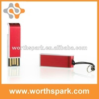 hot selling! OEM 4gb red rectangle thumb drive
