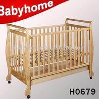 European certificate Australia certificate baby wooden crib cot cradle bed