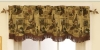 50%polyester+50%cotton tapestry window valance