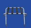 Chrome Luggage Rack w/4 Black Straps