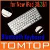 Ultra Slim Mini Bluetooth Wireless Keyboard for iPad 1 2 3 New iPad 3 iPhone 4 PC