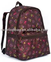 2012 fashional printing rucksack for lady
