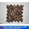 Natural red pebble stone /river stone on net