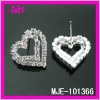 wholesale costume jewelry heart earrings with rhinestone