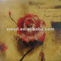 Artwork of Handmade decorative flower painting on canvas