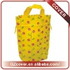 2013 tall yellow drawstring gift bags with full print