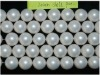 20mm white round shell pearl strand
