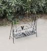 wrought iron swing flower rack