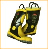 Fire protective boots/ fireman boots/ rubber boots/ safety boots/ steel toe/ steel midsole