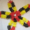 Hawaiian Flower Lei, Fancy Dress yellow Red & black Germany Flag Colour