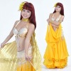 sparkling gold costume belly dance,belly dancing costumes,BellyQueen