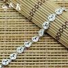 SKB0014-9.1G Special fashion jewelry sterling silver rose bracelet,the latest style of 2012