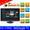 15.6 inch internet tv android 4.0 with TV+WIFI+HDMI+USB+Memory Card+VGA KA-1788GL