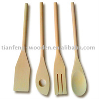 4pcs wooden cutlery set