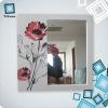 frame mirror silk flower