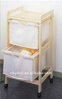 Wooden laundry cart