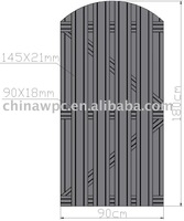 180*90cm wood plastic composite fence/exterior door