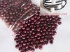 9-10mm wine red freshwater pearl beads loose beads with 2mm hole